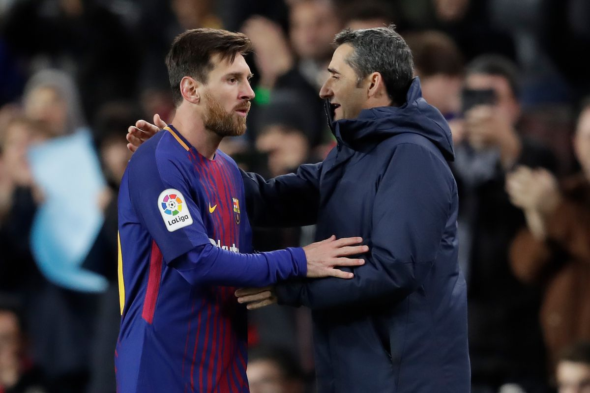 Image result for Lionel Messi and valverde getty images