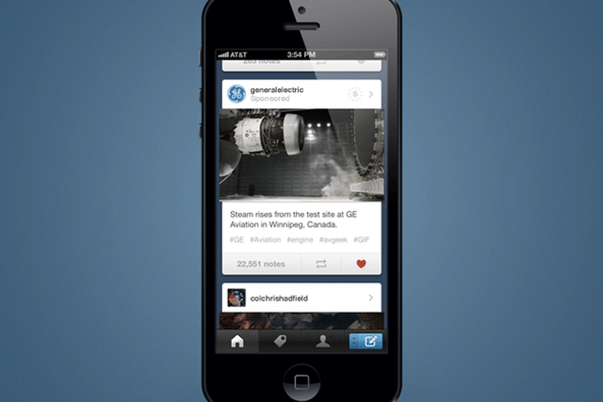 Tumblr launches first-ever mobile ads in its iOS and ...