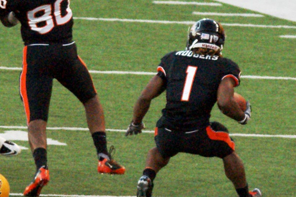 Jacquizz Rodgers ran for 145 yards and 2 touchdowns for Oregon St. Saturday. (Photo by Andy Wooldridge)