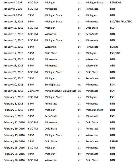 Big Ten schedule 2015 page 2