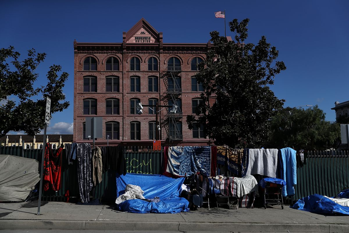 Homeless encampments near El Pueblo