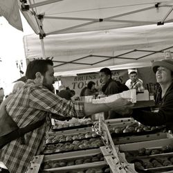 Saturday morning produce shopping at the Ferry Building