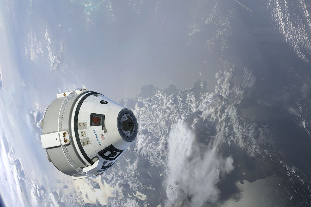A rendering of Boeing's Starliner, set to begin flying to the International Space Station in a few years.