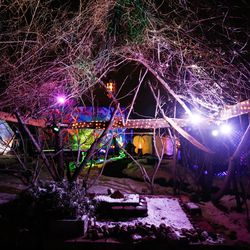 A lighting project on display at Lumen Land in Salt Lake City is pictured on Monday, Nov. 9, 2020.