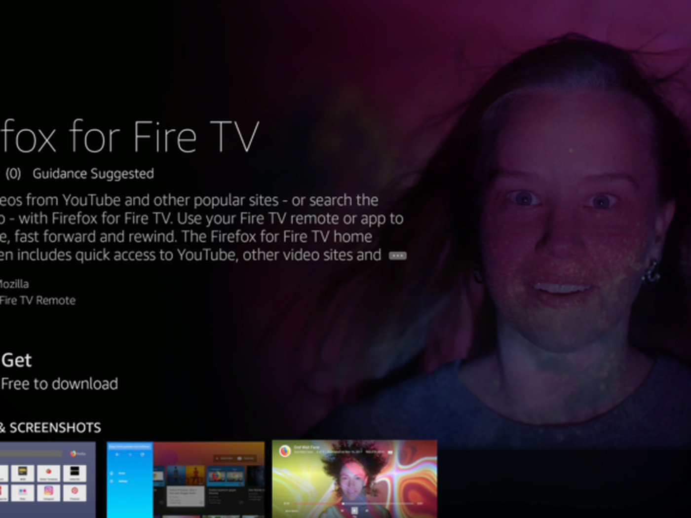 Firefox is now available on Amazon's Fire TV, and it can