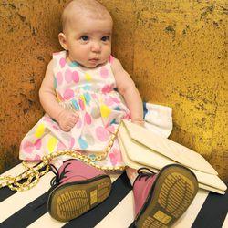Dr. Martens DM bootie in pink, $59.95 at Dr. Martens