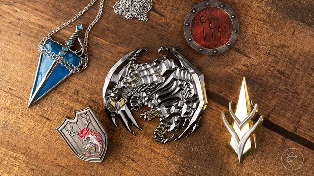 A series of trinkets found inside the Platinum edition includes two pins, two pendants, and a metal token for using in a climactic encounter late in the module.