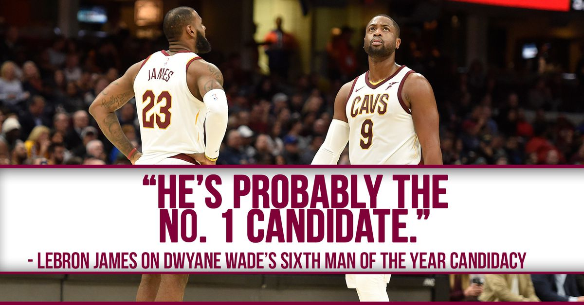 Lebron james says dwyane wade is the early favorite for sixth man lebron james says dwyane wade is the early favorite for sixth man of the year fear the sword voltagebd Gallery