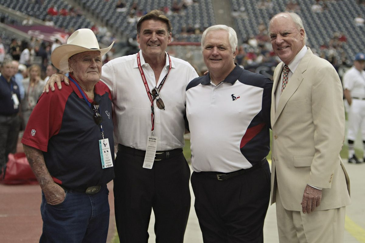 A father, a son, and the Houston Texans.  Bang.