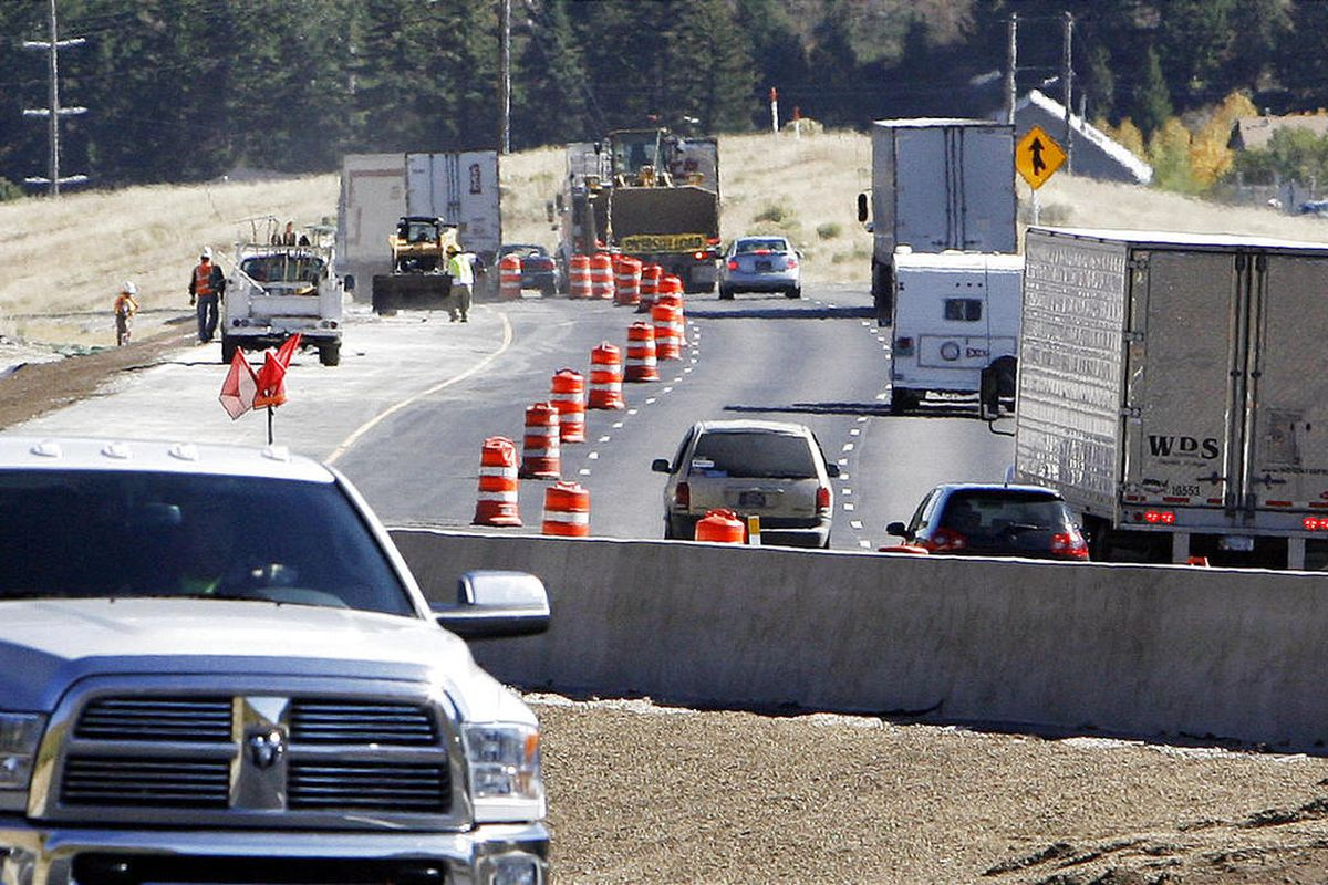 Road construction is seen on I-80 at Parleys Summit.