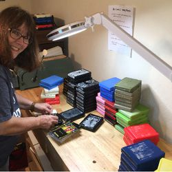 Kathy and Dave, a couple based in Texas were recruited to recondition and record every single one of the 1200 8-track tapes by hand.