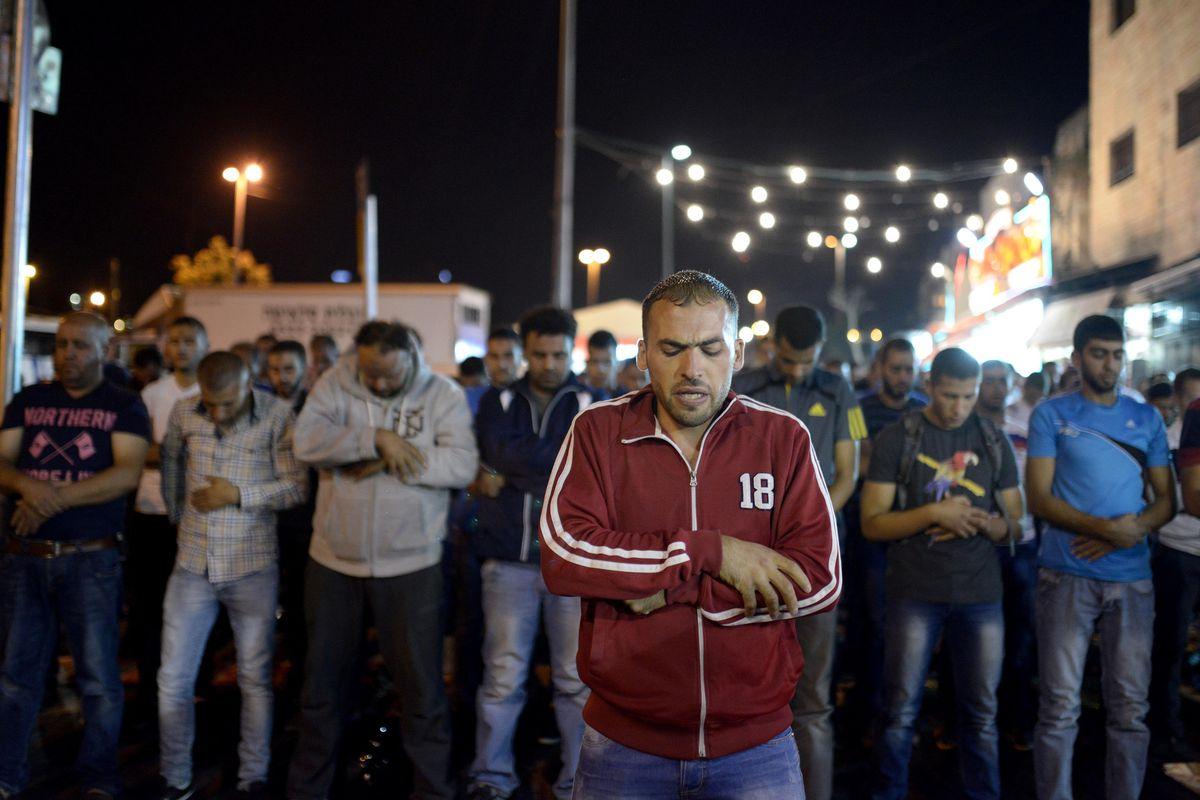 Palestinians gather in demonstration in East Jerusalem