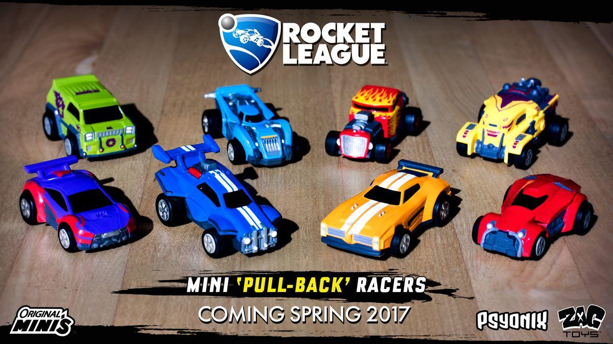 eight Rocket League Original Minis toy cars