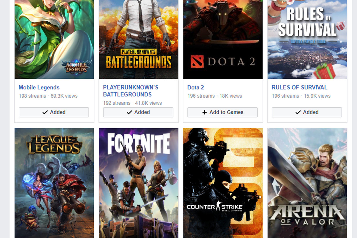 Facebook takes on Twitch with a new game streaming