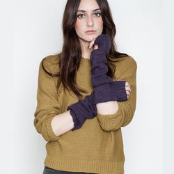 """<strong>Cheap Monday</strong> Women's Dark Plum Emma Armwarmers, <a href=""""https://www.shopacrimony.com/products/cheap-monday-womens-dark-plum-emma-armwarmers"""">$40</a> at Acre/SF"""