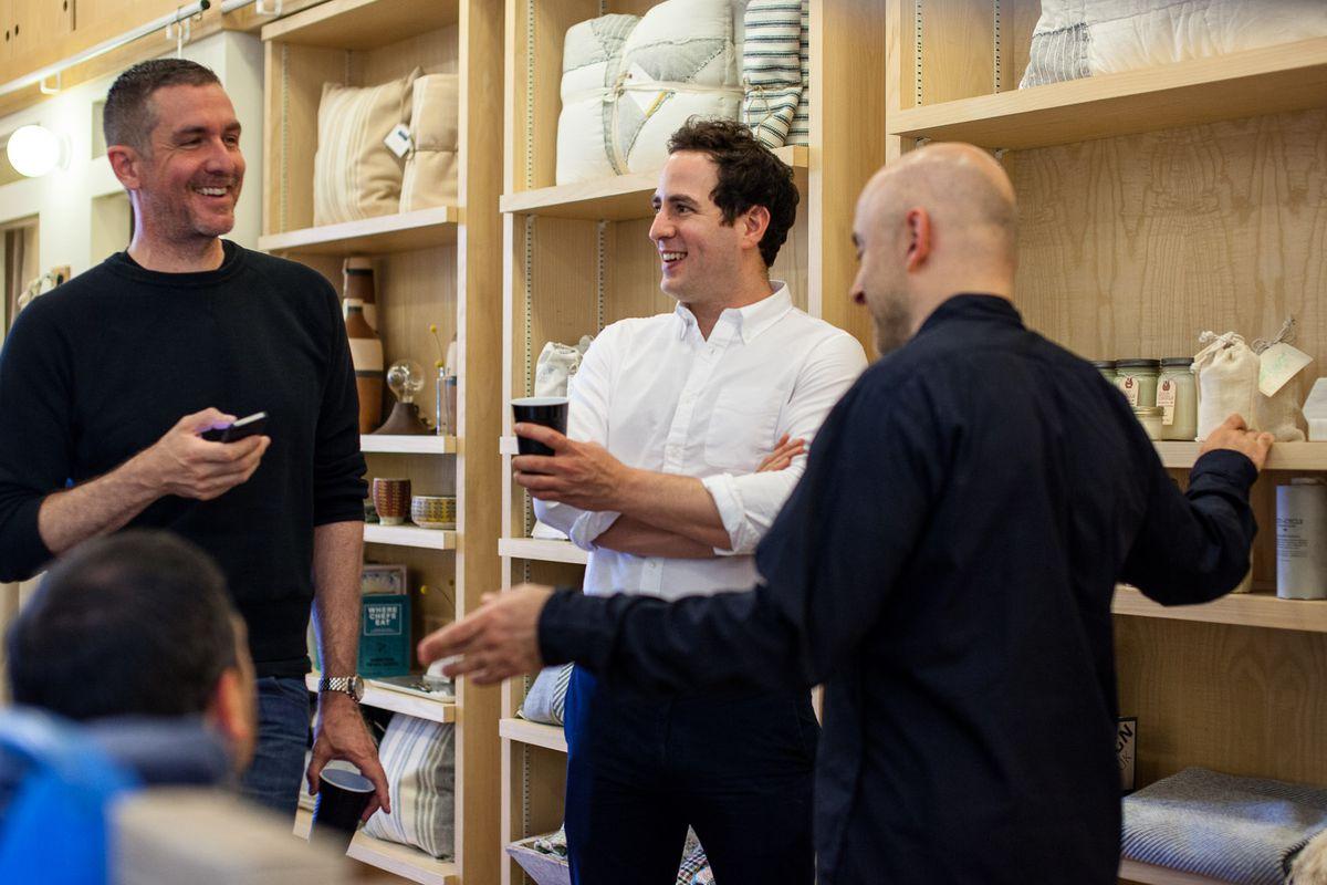Daniel Caudill (left), Randy Goldberg (center), Steven Alan (right); photo by Ulysses Ortega