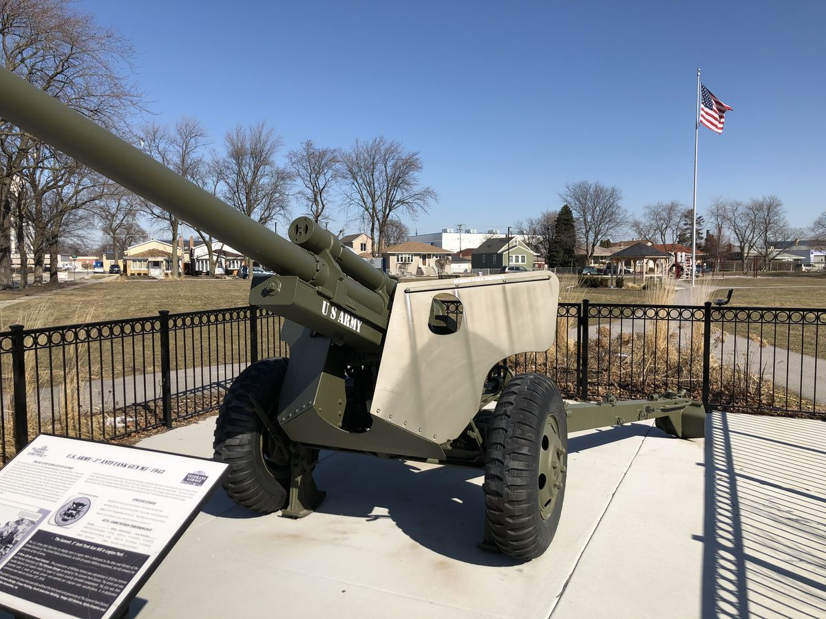 A refurbished World War II cannon at Summit's Legion Park, which was renovated in 2018.