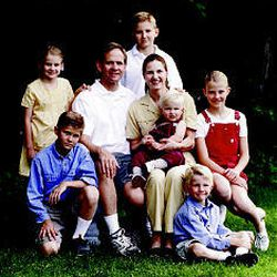 """Mary Katherine, left, Andrew, Ed, Charles, Lois, William (in Lois' lap), Edward and Elizabeth gather for a photo they tagged """"The Smart bunch in all their glory."""" The family is finally together again after the nine-month ordeal."""