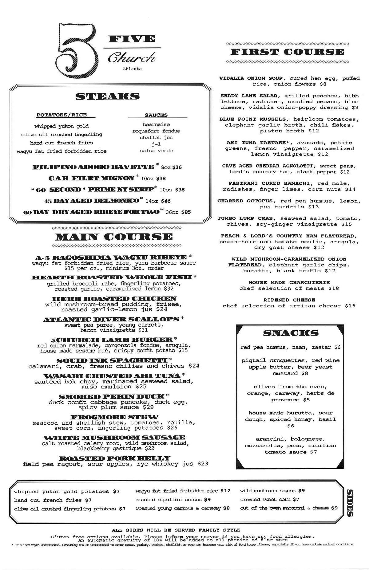 5Church menu final