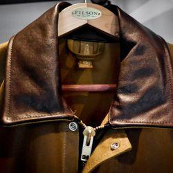 The Filson x Sebago Tin Cloth coat