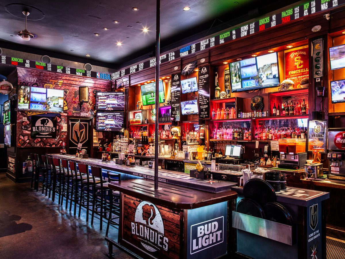 The inside of a sports bar