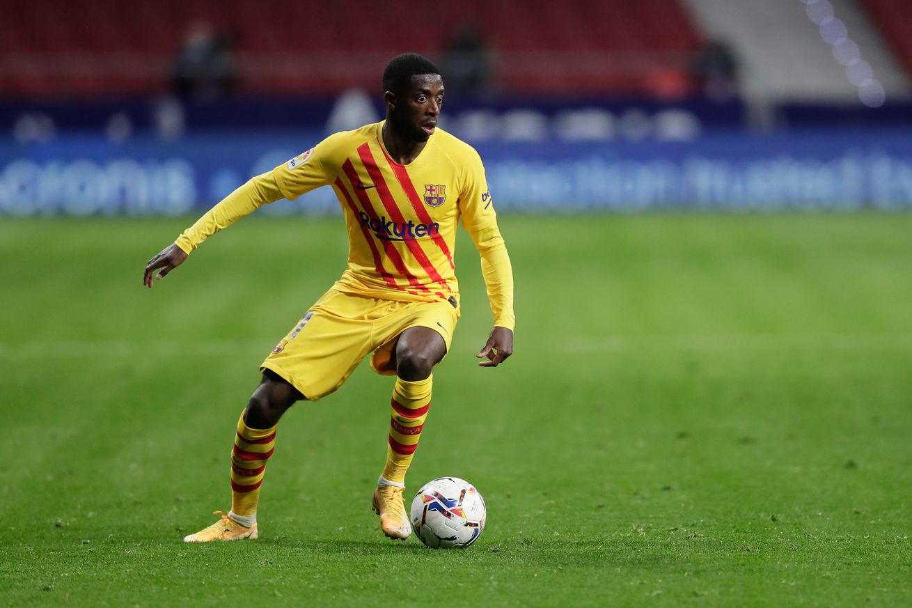 Dembele suffered ?shoulder sprain? against Atletico - report