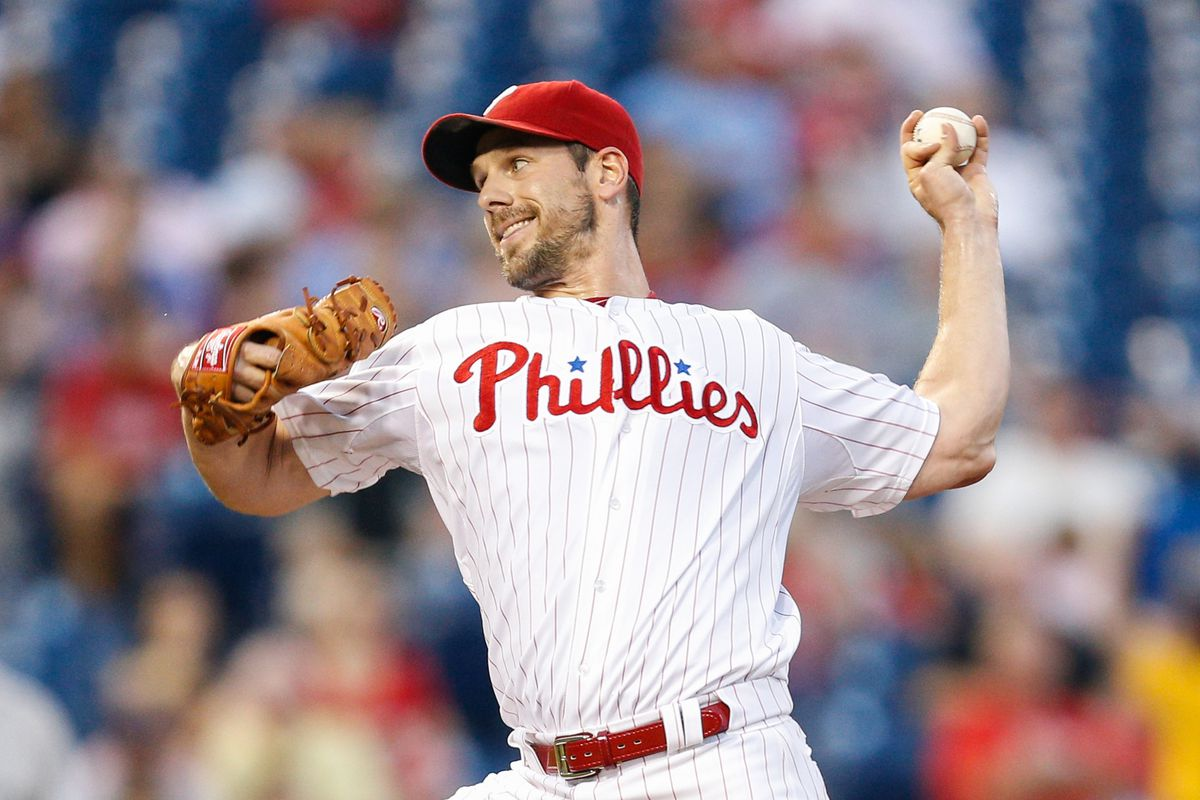 PHILADELPHIA, PA - SEPTEMBER 07: Starter Cliff Lee #33 of the Philadelphia Phillies pitches during the game against the Colorado Rockies at Citizens Bank Park on September 7, 2012 in Philadelphia, Pennsylvania. (Photo by Brian Garfinkel/Getty Images)
