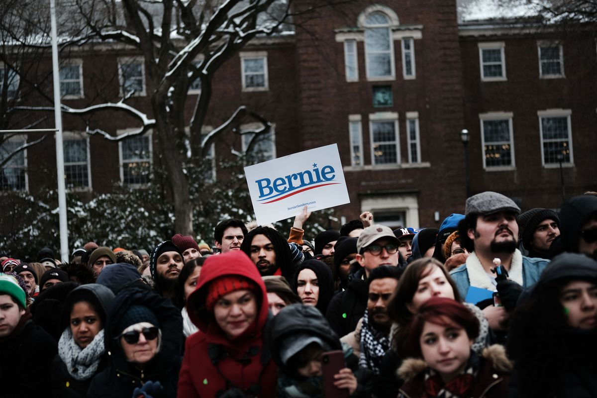 Sen. Bernie Sanders Holds Campaign Rally At Brooklyn College