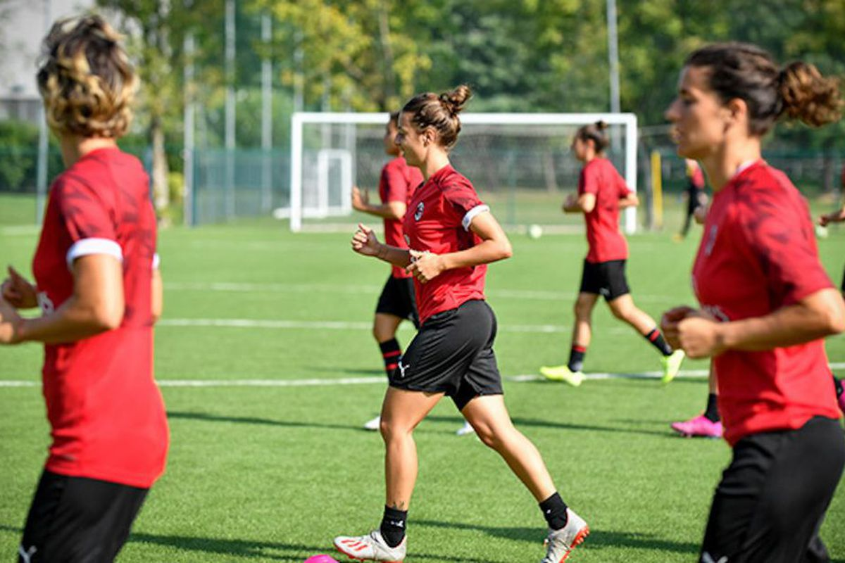 The AC Milan Women will begin training today in lieu of upcoming ...