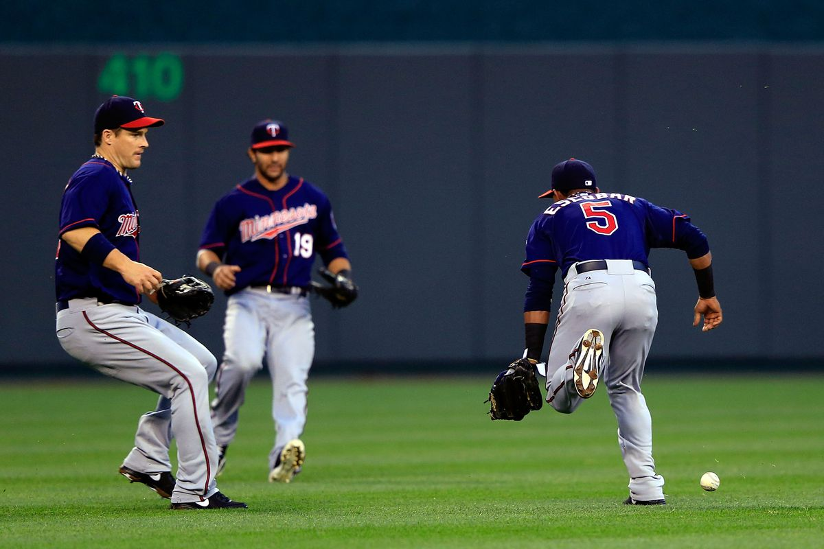 """Minnesota players showing off the modern version of """"The Twins Way."""""""