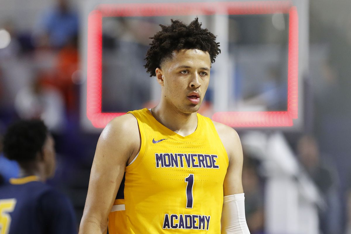 Cade Cunningham of Montverde Academy in action against Sanford School during the City of Palms Classic Day 2 at Suncoast Credit Union Arena on December 19, 2019 in Fort Myers, Florida.