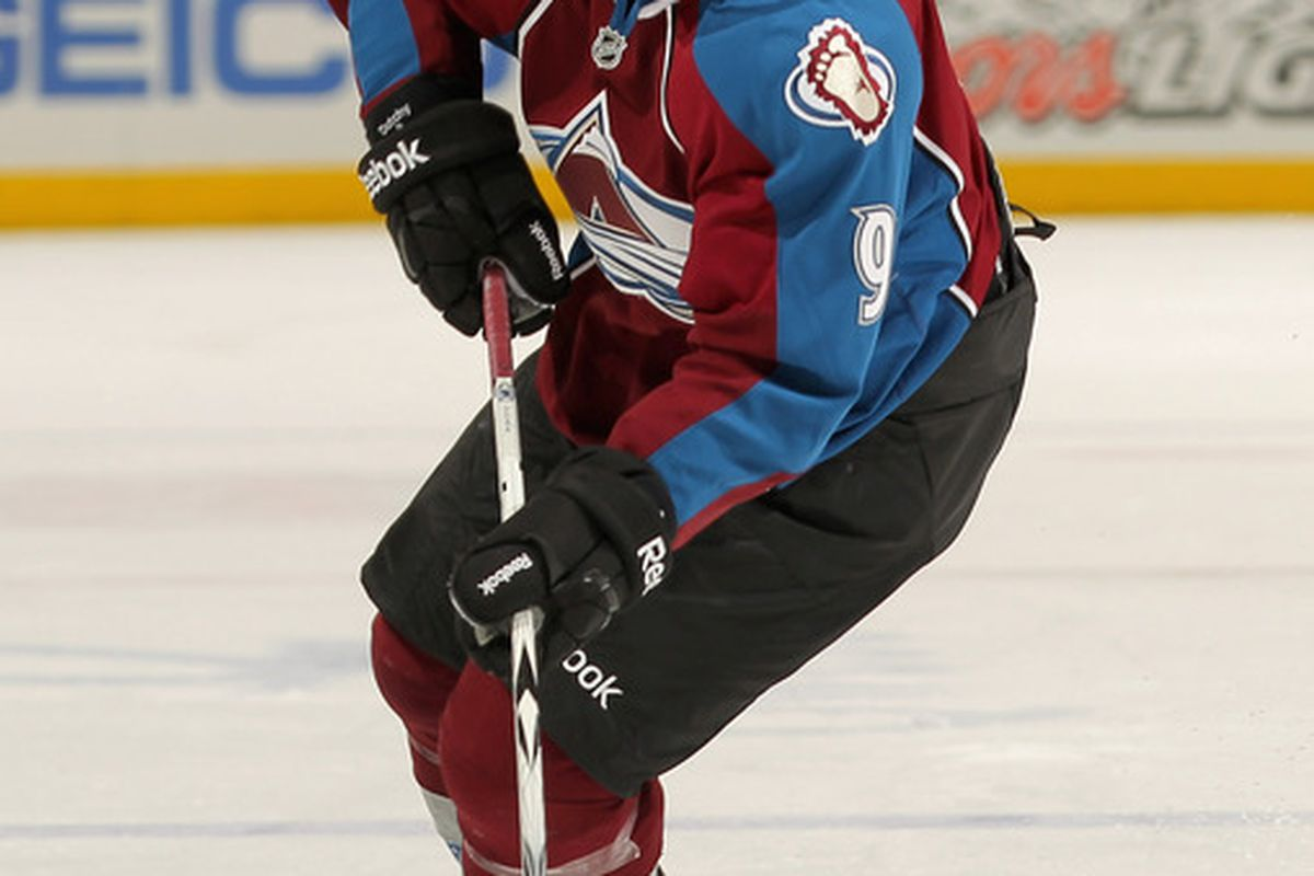 Avalanche Center/Left Wing/Spin-o-rama Boy Wonder Matt Duchene skating on what used to be two good knees.  (Photo by Doug Pensinger/Getty Images)