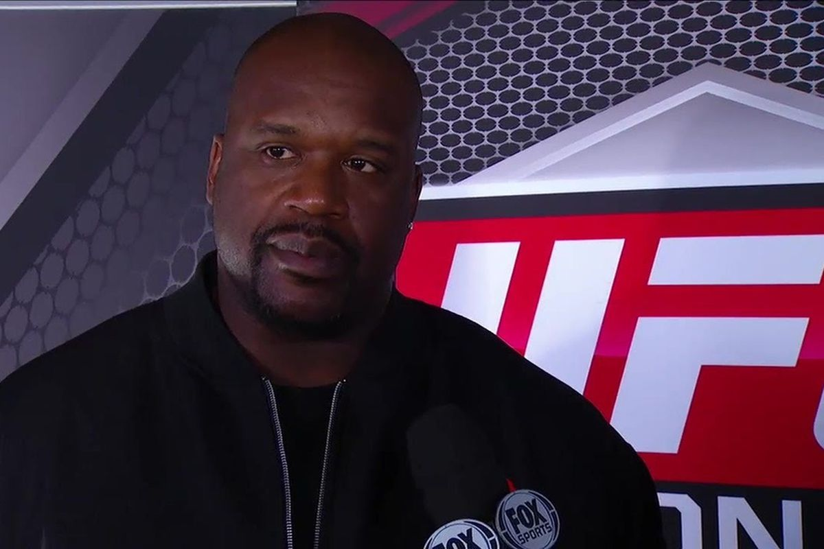 Shaq during a segment at UFC Tonight