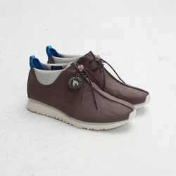 """Clarks Sportswear X Hanon Traxter (Taupe), <a href=""""http://shop.cncpts.com/products/clarks-sportswear-traxter-hanon-taupe"""">$130</a>"""