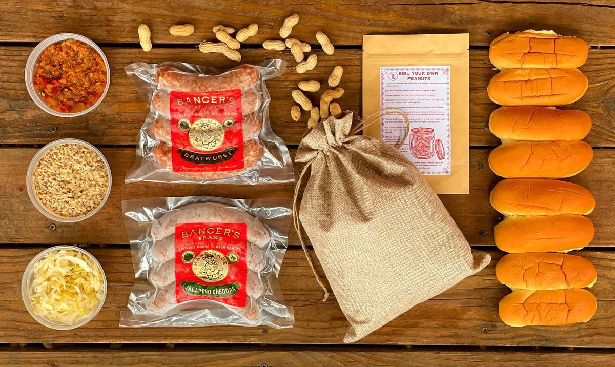 A meal kit package from Banger's