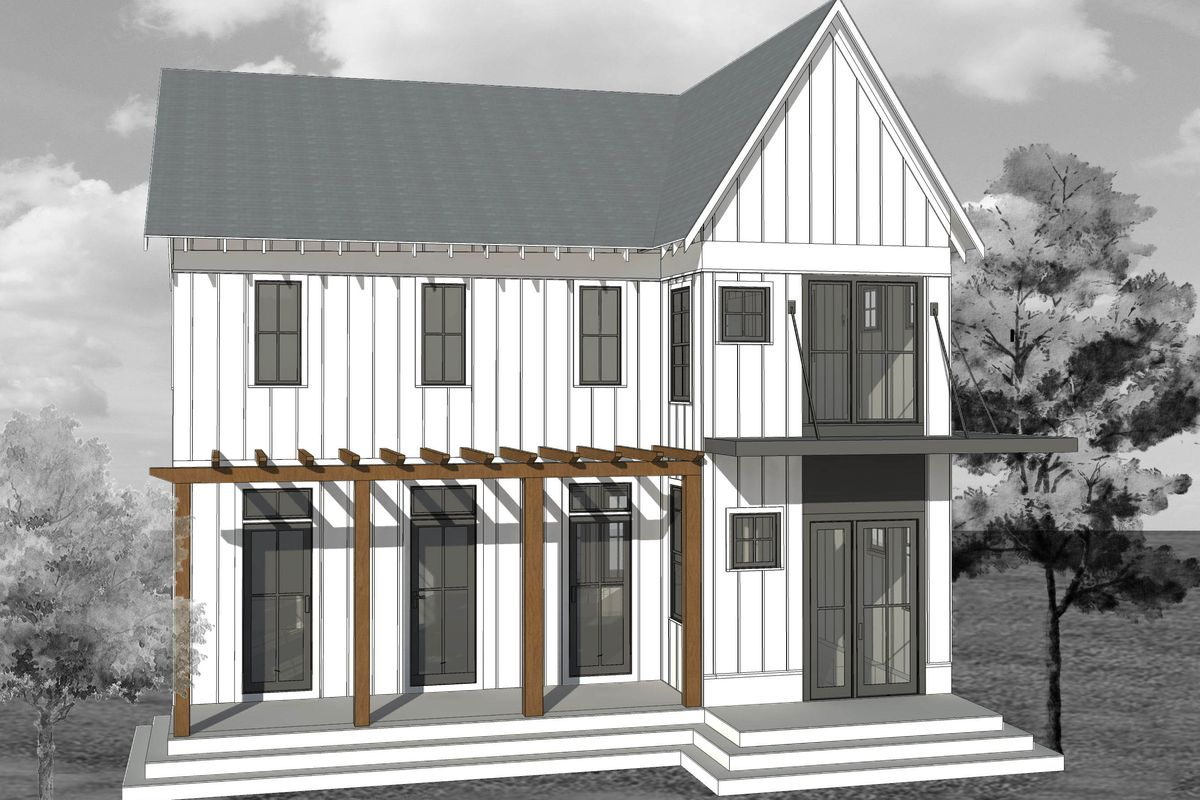 In Atlanta's Ormewood Park, an elevation rendering of one home that will rise directly adjacent to the future Beltline.