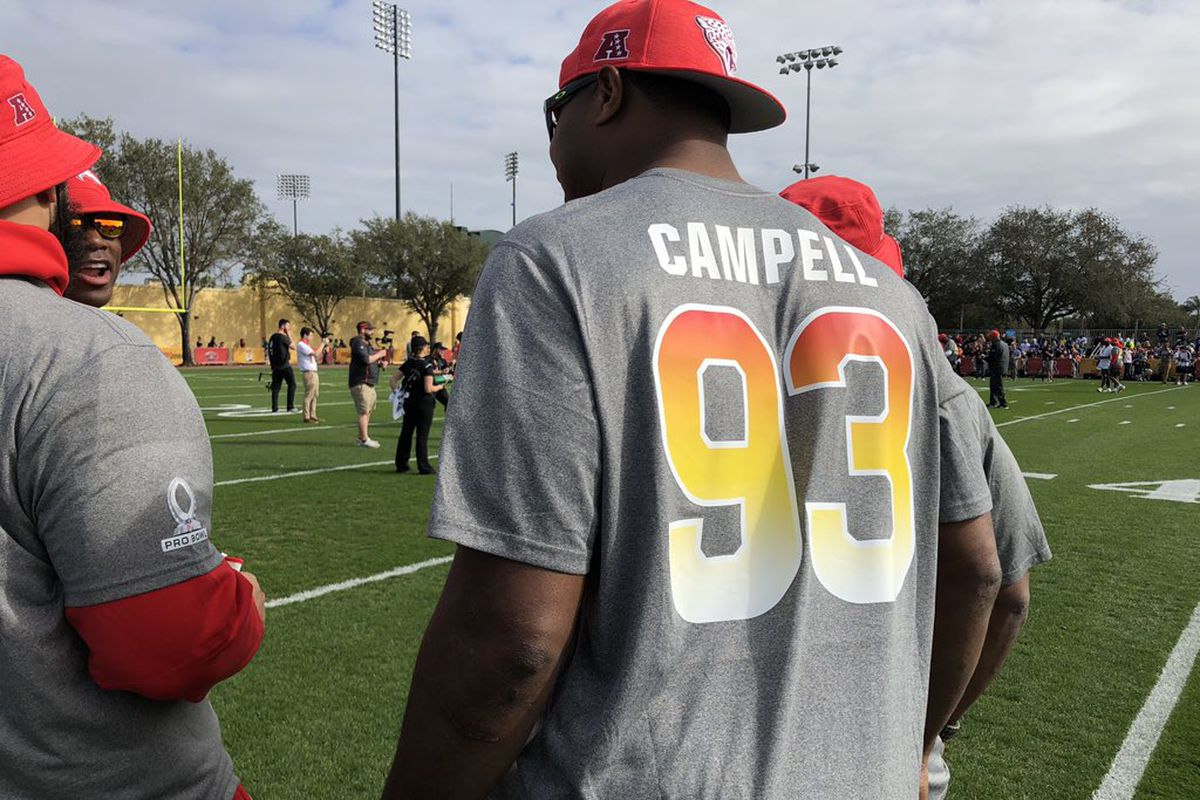 quality design 93eb1 ced81 2019 Pro Bowl: NFL spells Calais Campbell's name wrong on ...
