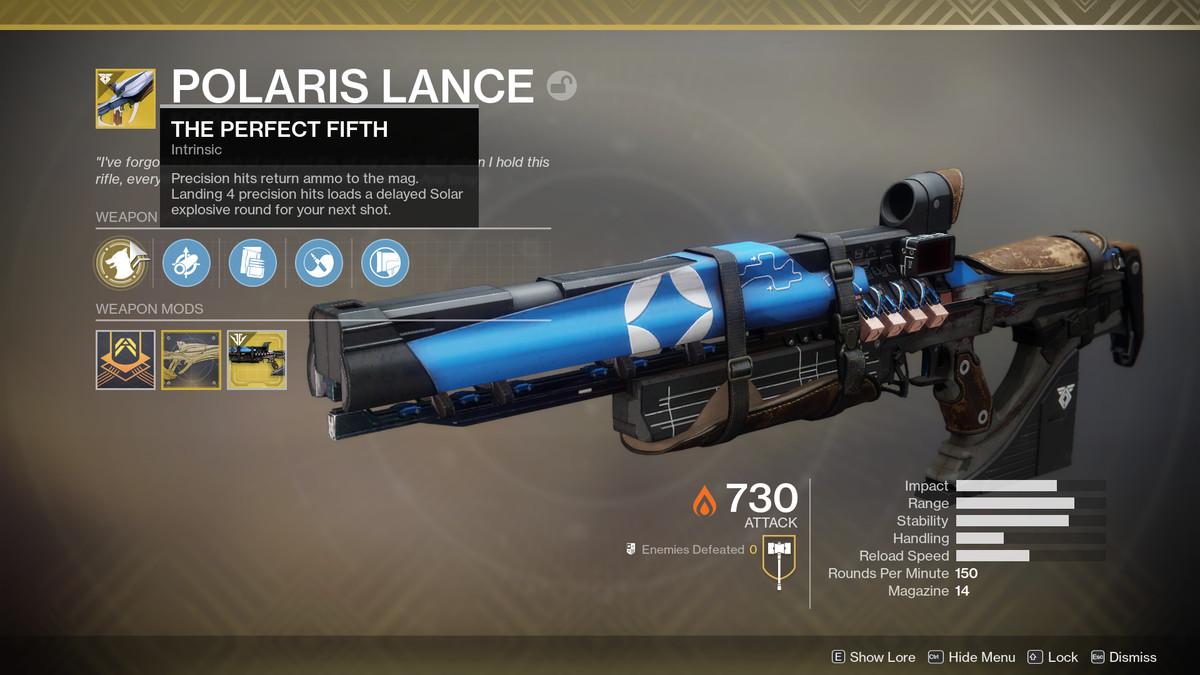 Destiny 2 Polaris Lance