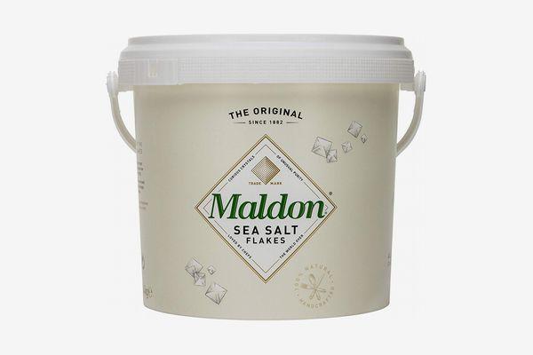 A bucket of Maldon sea salt