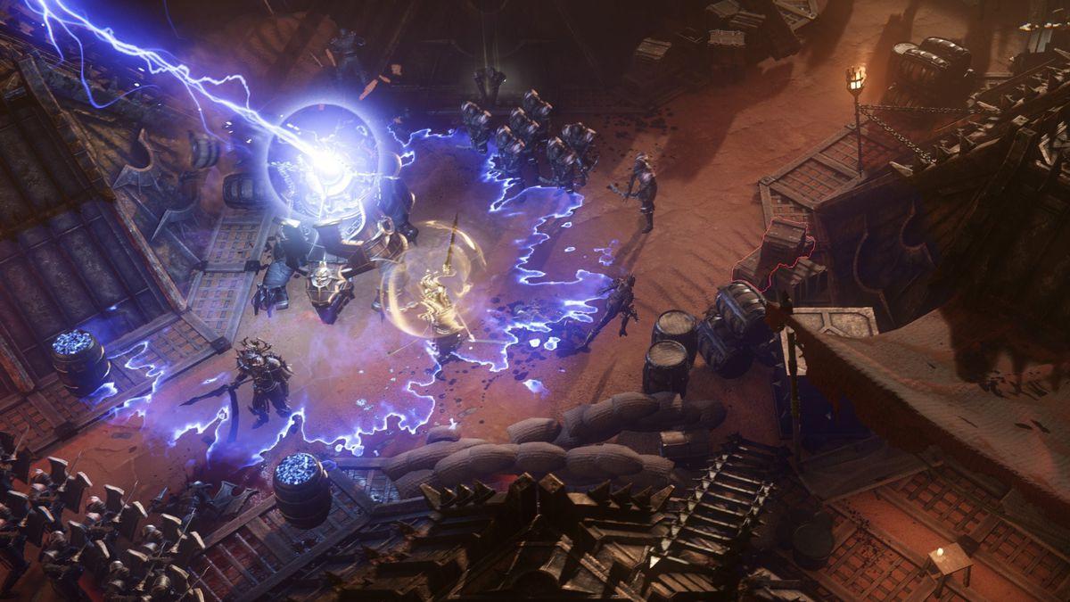Wolcen lightning attacks