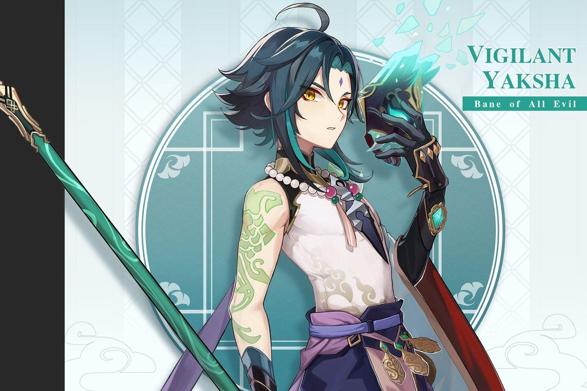 Xiao is a pretty boy from Genshin Impact.