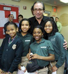NorthStar Academy students with author R.L. Stine