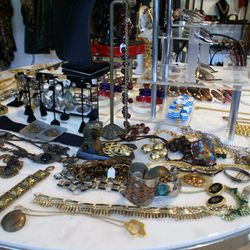 Jaw-dropping jewelry at Marie's showroom.