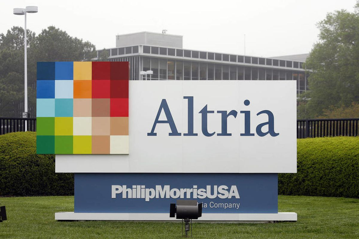 FILE - This April 23, 2008, file photo, shows the Altria Group Inc. corporate headquarters in Richmond, Va. Altria Group Inc. said Thursday, April 26, 2012, that its first-quarter profit rose almost 4 percent as higher prices and cost-cutting helped offse