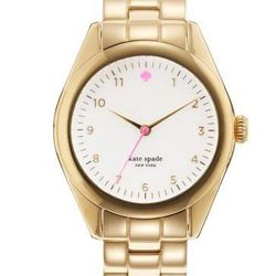 "Seaport in gold, <a href=""http://www.katespade.com/seaport/1YRU0027,default,pd.html?dwvar_1YRU0027_color=711&start=26&cgid=watches"">$225</a>."