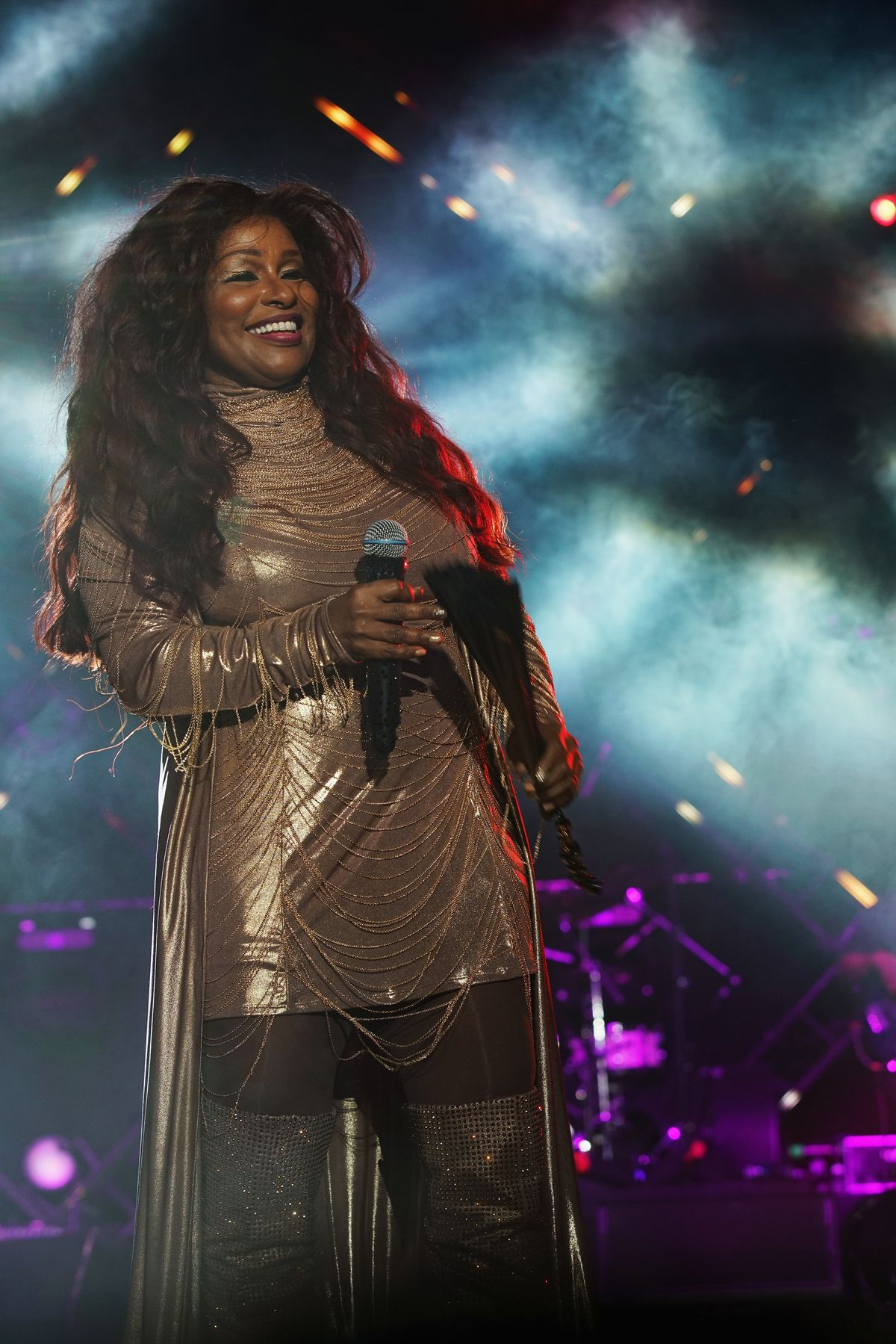 Singer Chaka Khan performs onstage at the 2017 ESSENCE Festival at the Superdome on July 1, 2017 in New Orleans, Louisiana.   Bennett Raglin/Getty Images for 2017 ESSENCE Festival