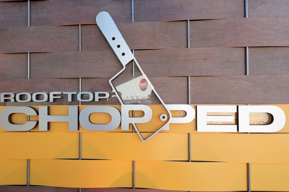 """A logo is seen for Rooftop """"Chopped"""" during the Food Network & Cooking Channel New York City Wine & Food Festival"""