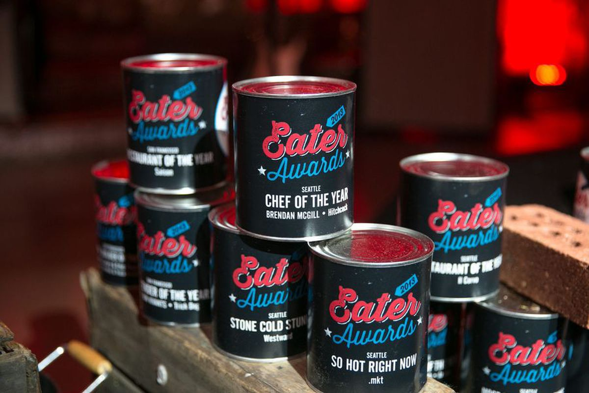 Eater Awards cans
