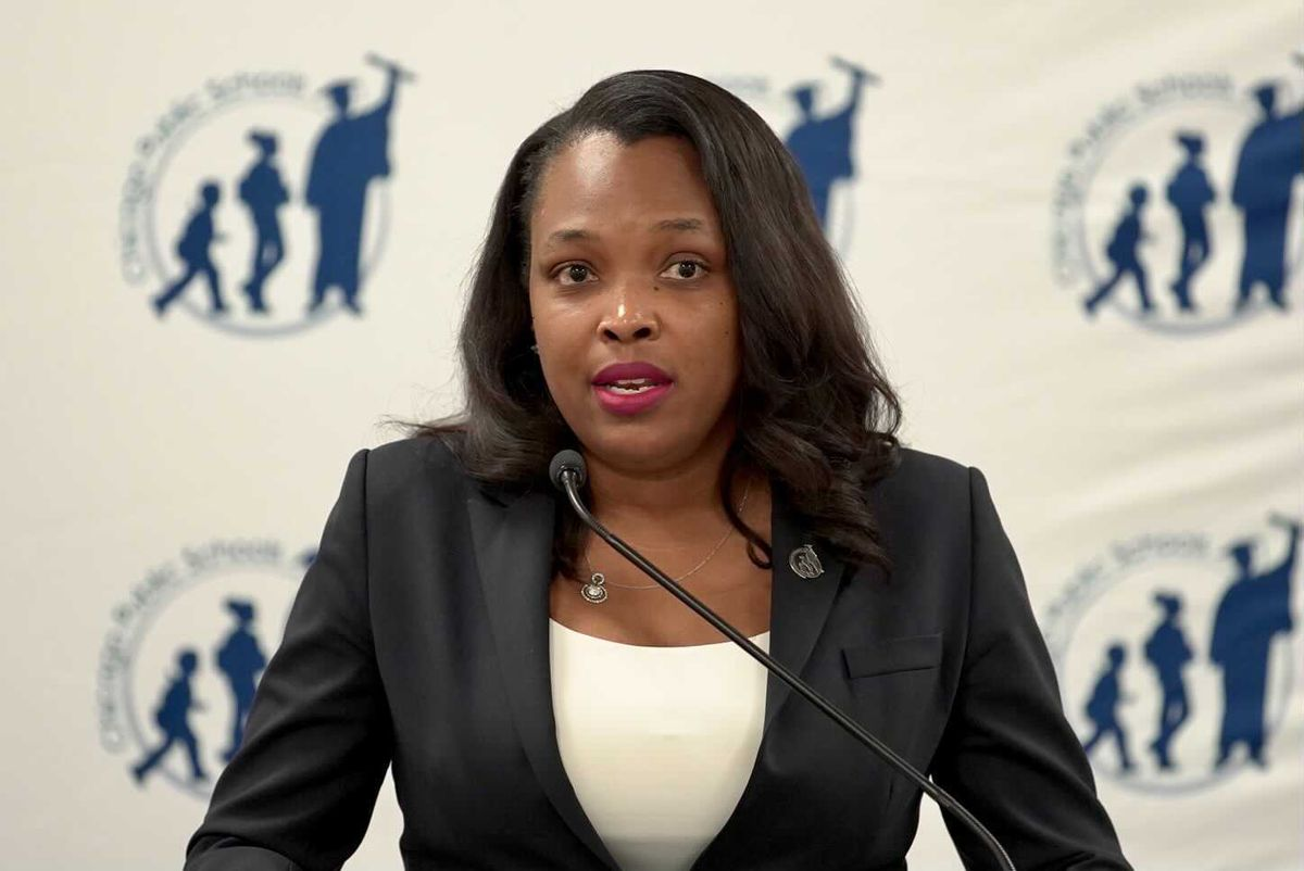 CPS CEO Janice Jackson gives an update on the school system's reopening plans, Jan. 5, 2021.