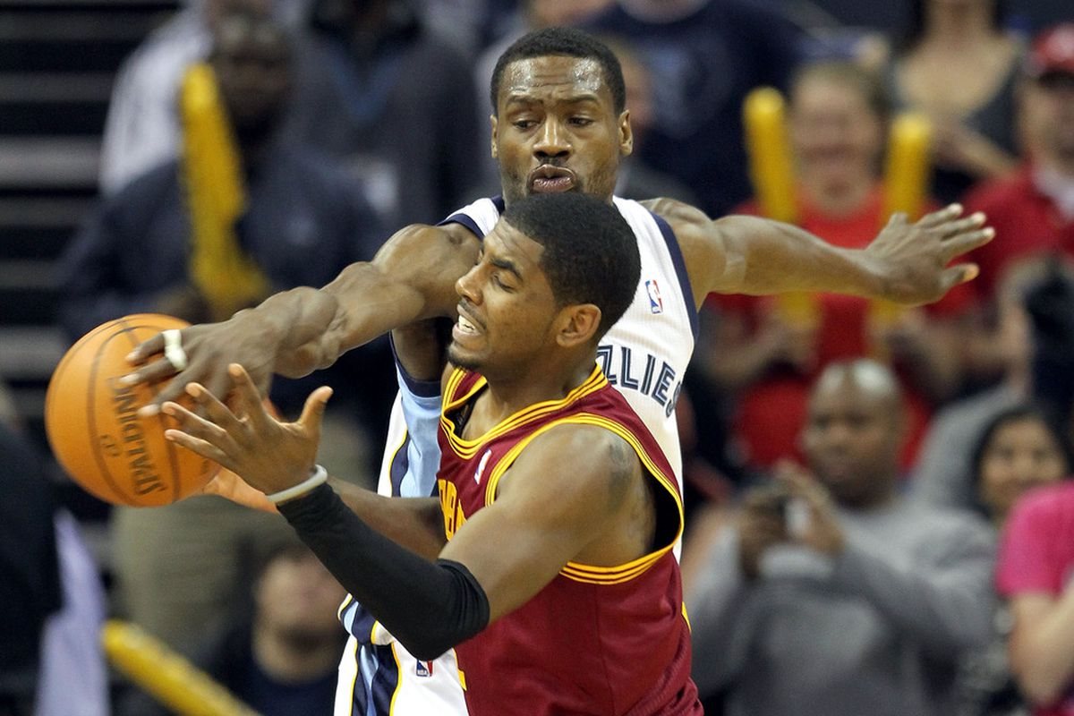 This happened last night. Often. Kyrie Irving probably had nightmares that Tony Allen was going to come steal him while he slept.